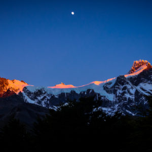 Patagonia, Torres del Paine early in the morning