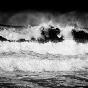 Welle vor der Küste Portugals