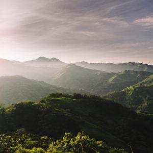 Sicht über den Nebelwald-Tailand