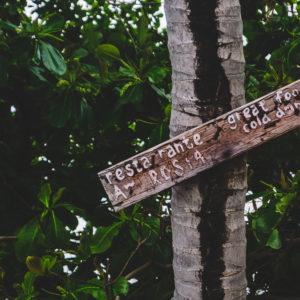 Schild in Tailand