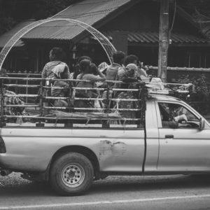 Auf einem Tailändischen Pik-up