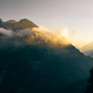 Sonnenaufgang im Wetterstein